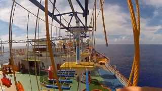 Carnival Breeze Rope Course First Person POV Chest Mount