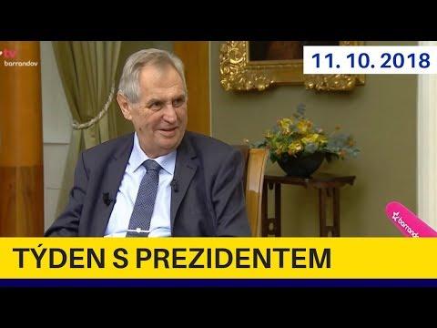 Týden s prezidentem 11.10..2018. Miloš Zeman v pořadu Jaromíra Soukupa