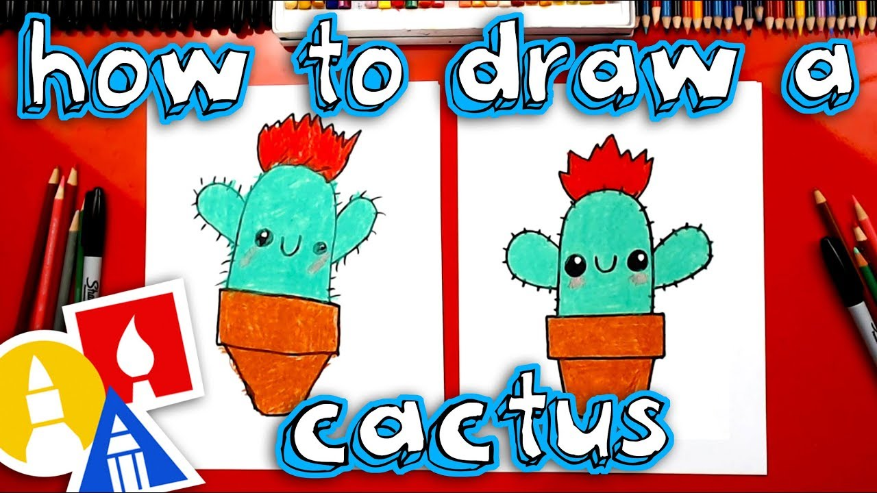 How To Draw A Funny Cactus Youtube