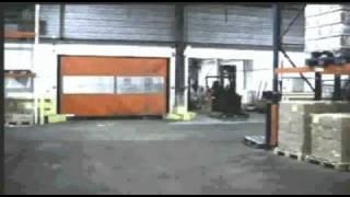 Dynaco рулонные скоростные ворота. Скорость