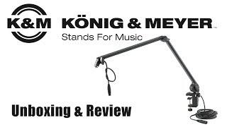 Der König zieht ein! | Mikrofonarm von König & Meyer - K&M | Unboxing Review Deutsch German thumbnail