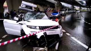 Авария в Сочи Рендж Ровер Эвок 05.04.2015, Land Rover Range Rover Evoque, идея AutoAny.ru