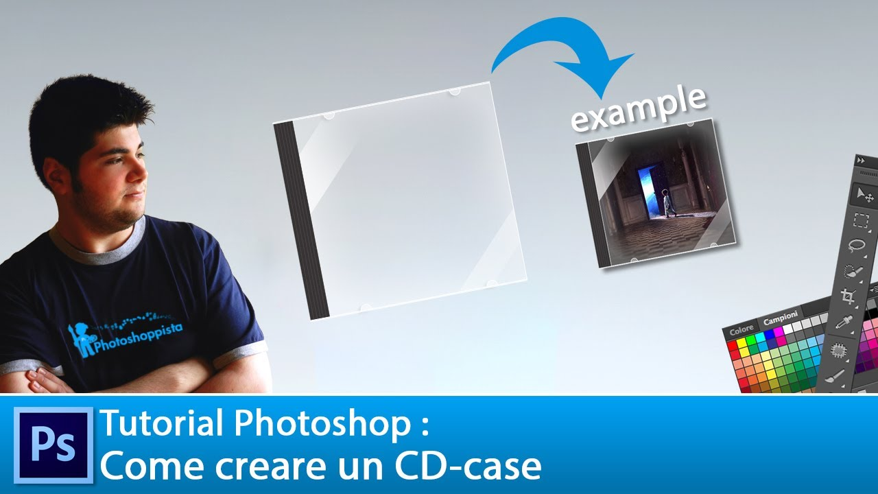 Tutorial photoshop cs6 come creare un cd case youtube for Creare case
