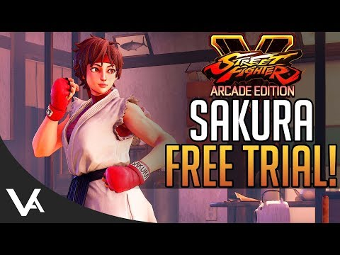 SFV - Free Sakura Trial! New Rank, Fighter ID Change & More For Street Fighter 5 Arcade Edition