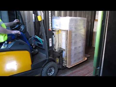Slip Sheet Handling (unloading) - Yusen Logistics (Czech) Strancice