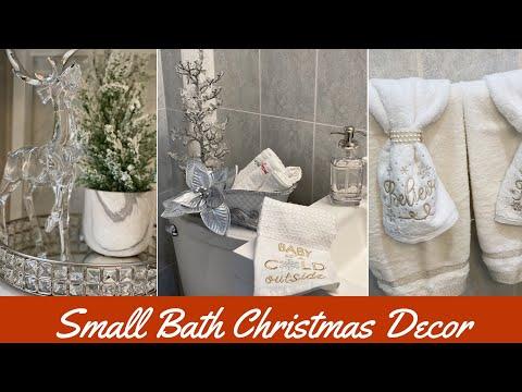 SMALL BATHROOM CHRISTMAS DECOR IDEAS 2019 || NEUTRAL GLAM DECOR