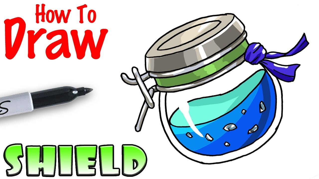 how to draw shield potion fortnite - fortnite potion bottle