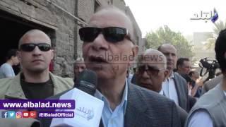 محافظ القاهرة يصل «مجرى العيون» لتسليم شيكات التعويض لأصحاب المدابغ..فيديو وصور