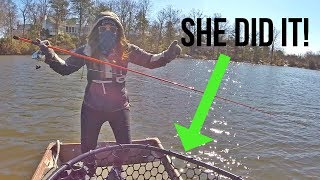 My Girlfriends First Time Entering A Bass Fishing Tournament!! (unbelievable)