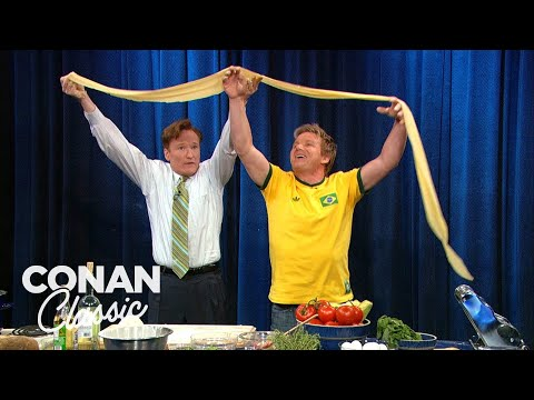 "Conan & Gordon Ramsay Make Pasta - ""Late Night With Conan O'Brien"""