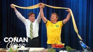 "Conan & Gordon Ramsay Make Pasta - ""Late Night With Conan O'Brien"""
