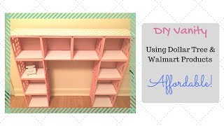 DIY Vanity Using Dollar Tree & Walmart Goods