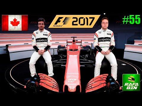 F1 2017 GP CANADA #55 HOJE NÃO CODEMASTERS!!