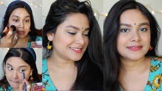 Complete Beginners Makeup Tutorial Step By Step Indian Festive Makeup Durga Puja Makeup