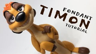 Timon - Lion King | fondant animals tutorial