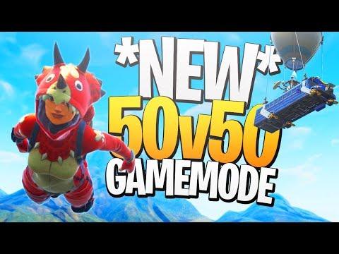 HUGE BATTLES! - Fortnite's NEW 50v50 v2 Limited Time Mode!