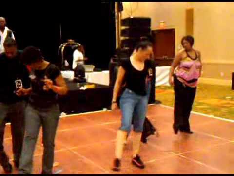 """Line dance to """"Freak it"""" at Queens Together MC Annivesary party Raleigh NC"""