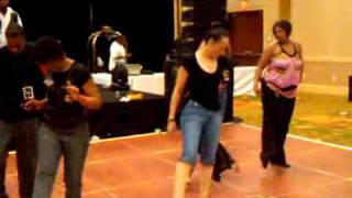 "Line dance to ""Freak it"" at Queens Together MC Annivesary party Raleigh NC"