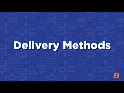 Online Student Tips: Delivery Methods
