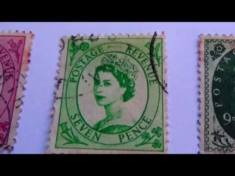 Old Great Britain Postage Revenue Stamps
