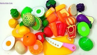 Learn Fruits & Vegetables Names With Colors Fruits toys Playset Learn colors Preschool