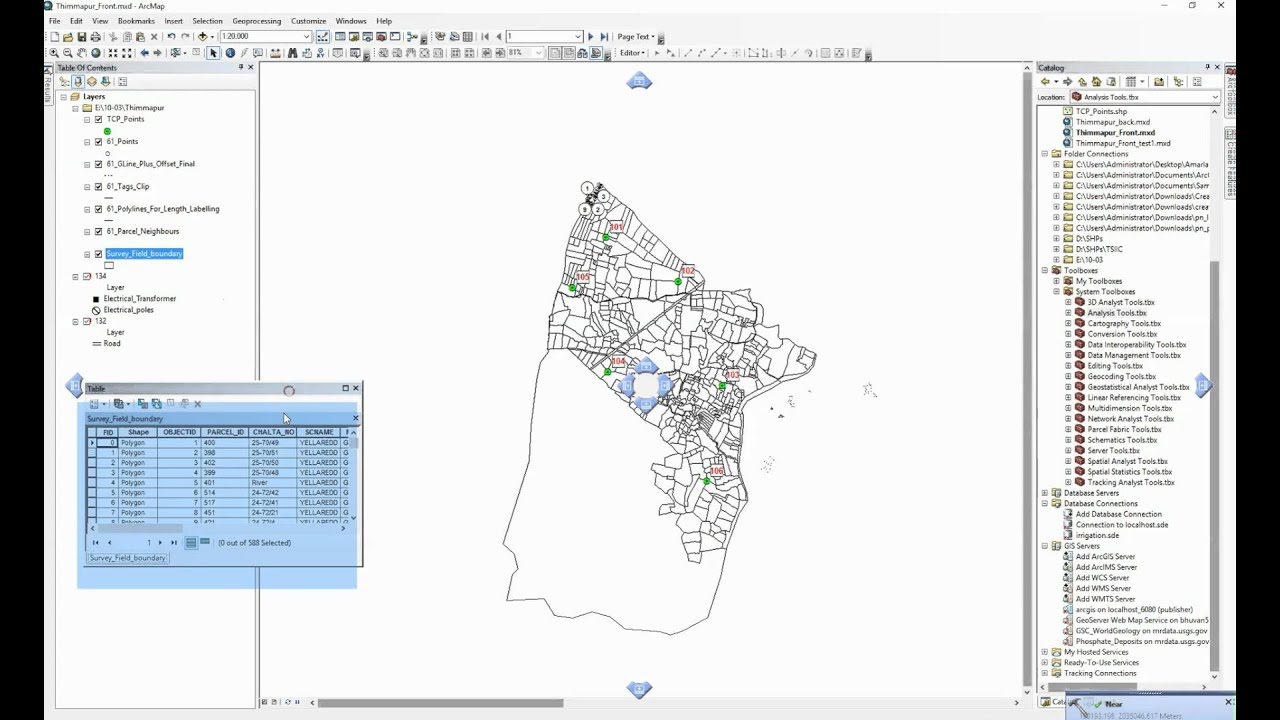 ArcGIS 10 2 - Near - Find nearest point among several points to a parcel  polygon feature