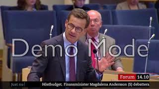 Personangrepp från Ulla Andersson V  på Ulf Kristersson M i brist på sakliga argument