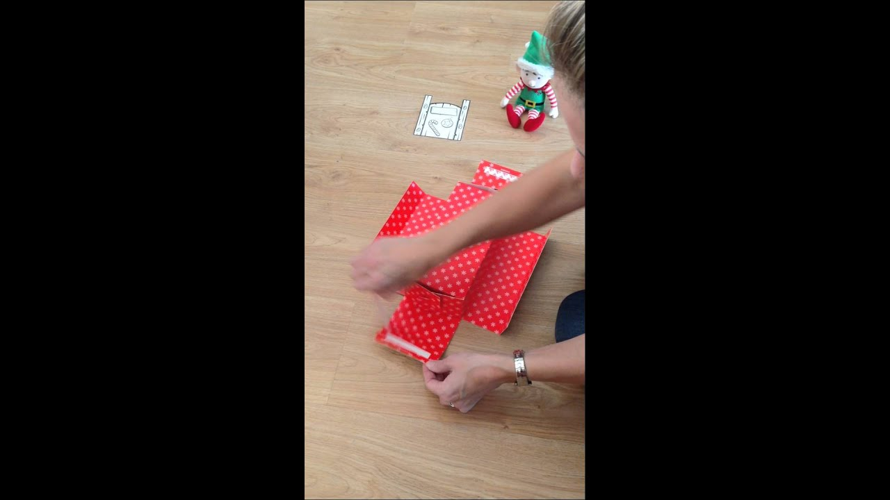Advent Elf Step 3. How To Make Your Elf Bed