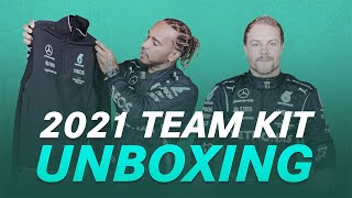 UNBOXING: Lewis and Valtteri's First Look at the 2021 Team Kit