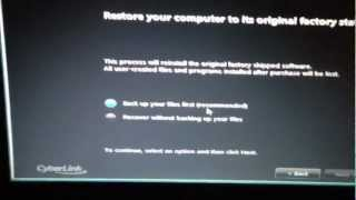 How to reset a compaq laptop