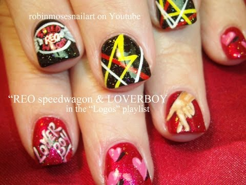 Loverboy & REO Speedwagon Nail Art