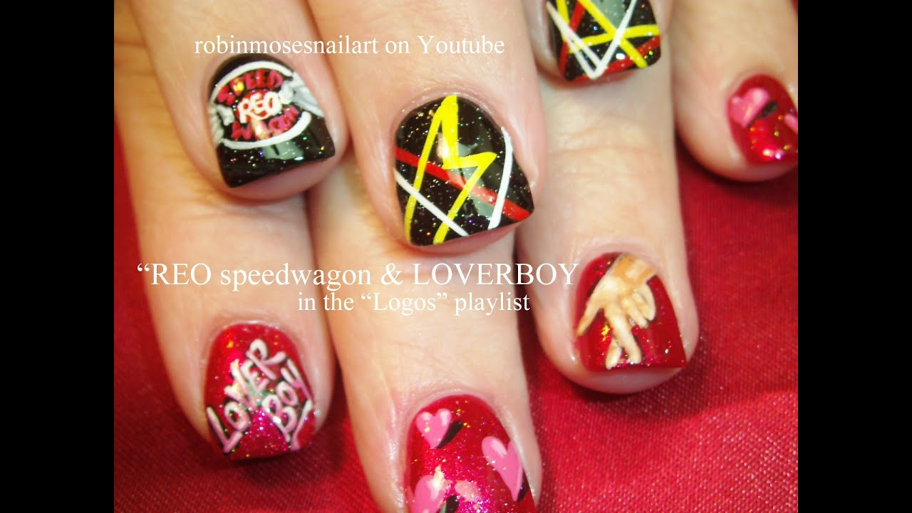Loverboy & REO Speedwagon Nail Art - YouTube