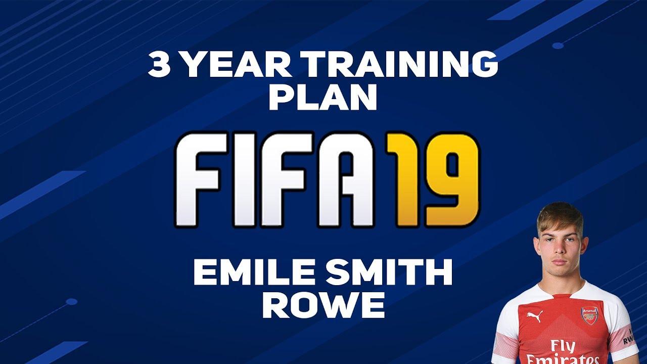 3 Year Training Plan Fifa 19 Style Emile Smith Rowe Youtube