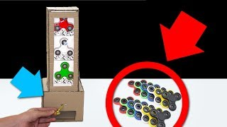 How to make Spinner Vending Machine using Key! (DIY Cardboard Vending Machine)