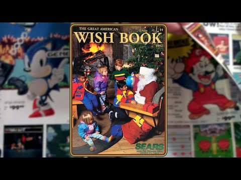 1992 Sears Wish Book - Christmas / Holiday Catalog Full Of Classic Toys, Electronics, And Gifts