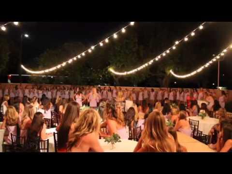 Sisterhood song and dance at Gamma Phi Beta, Cal Poly - SLO
