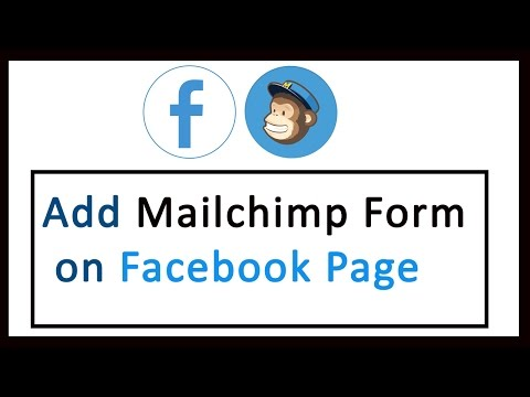 How to Add Mailchimp signup form on Facebook  -  Integrate FB and Mailchimp