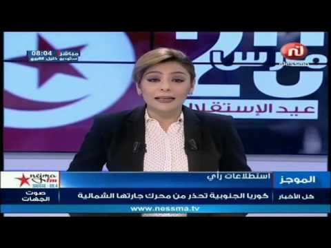 Nessma Live: Flash News de 08h00 Lundi 20 Mars 2017