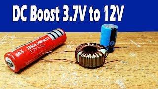 My testing booster  3.7V to 12V-13.7V DC converter