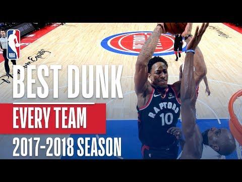Best Dunk From Every NBA Team | 2017-2018 Season