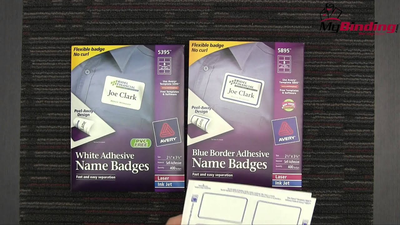 Avery Adhesive Name Badges Demo