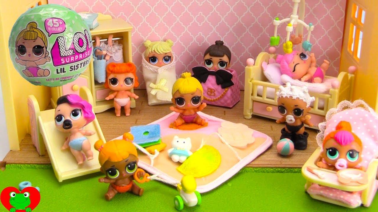 Lol Surprise Lil Sisters Baby Nursery Youtube