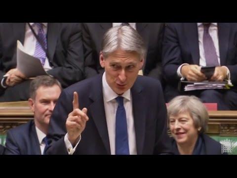 2017 03 08 UK PMQ Wales Spring Budget May Corbyn Hammond COMMONS CHAMBER