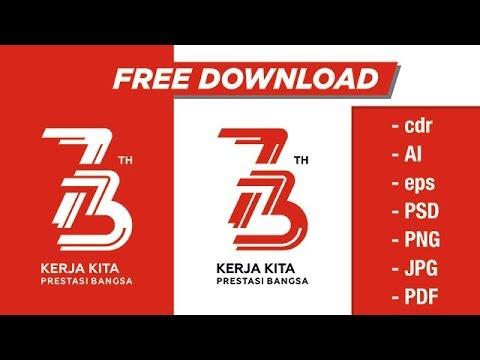 Free Download Vector Logo Resmi Hut Kemerdekaan Ri Ke  Dan Cara Desain Logo Hut Ri