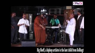 Kollington ayinla and son, big sheff on stage (nigerian lifestyle & entertainment)