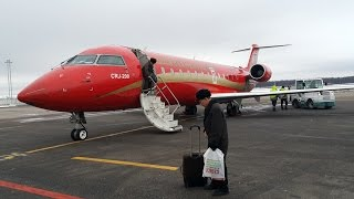 Bombardier CRJ-200  RusLine.  Landing in Domodedovo, Moscow, Russia