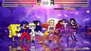 Team andersonkenya1 vs Team Amaterachu1 Part 2 MUGEN Request 4v4 Battle!!!