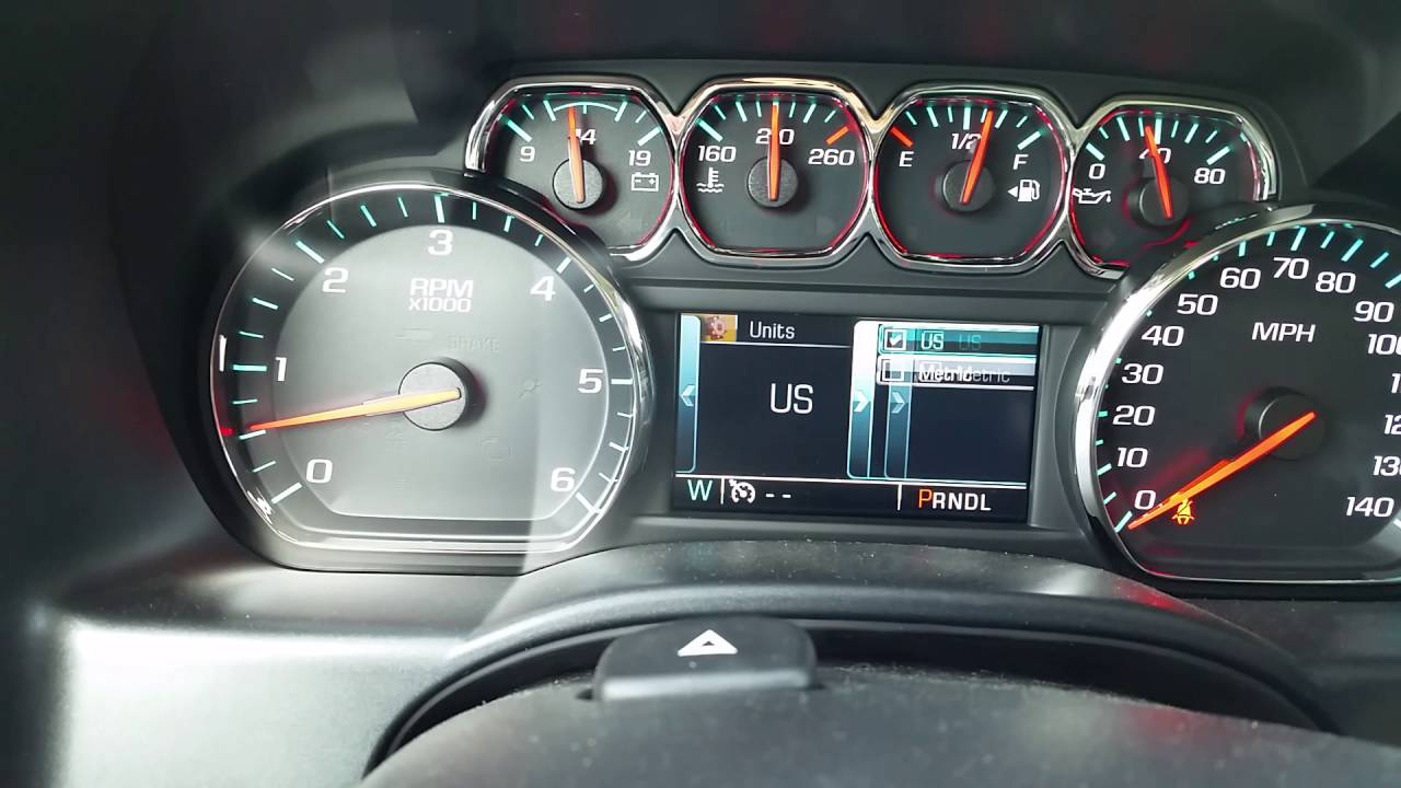 2017 Silverado ~ Changing Language Display. English ...