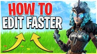 HOW TO EDIT FASTER IN FORTNITE! (Fix Edit Delay)