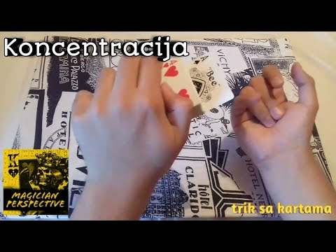 Koncentracija (trik sa kartama)    Magician Perspective  